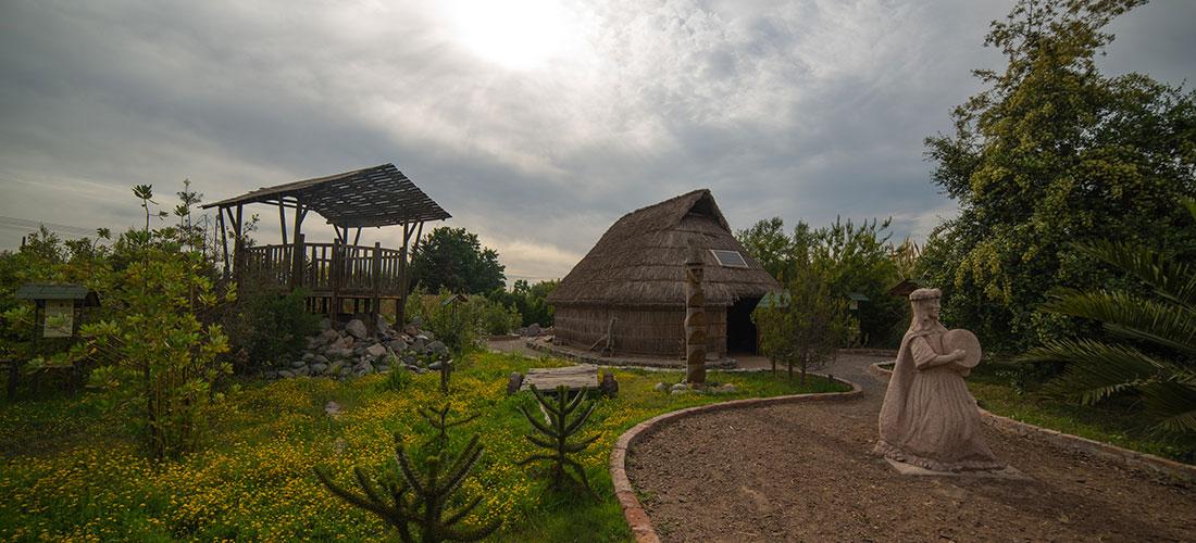 Ruca mapuche en Centro Alhue lahuen